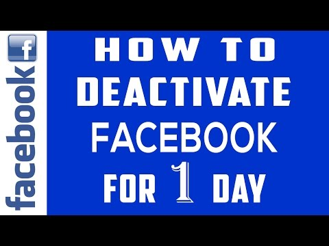 Deactivating Facebook Account for 1 day | How to Deactivate Facebook Account for a Day