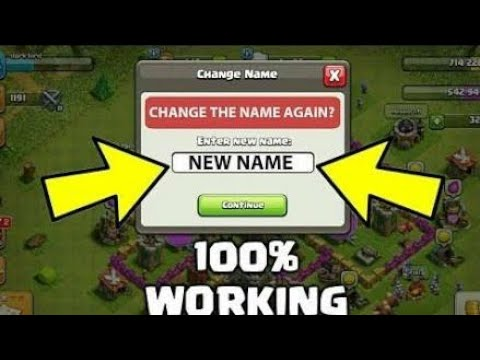 HOW TO CHANGE YOUR NAME 3rd TIME IN CLASH OF CLANS UNLIMITED! APRIL 2018 | COC Gameplay 2018