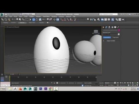 Rigging Oval Eye in 3D Max [ Constraint Normal / Constraint Surface]