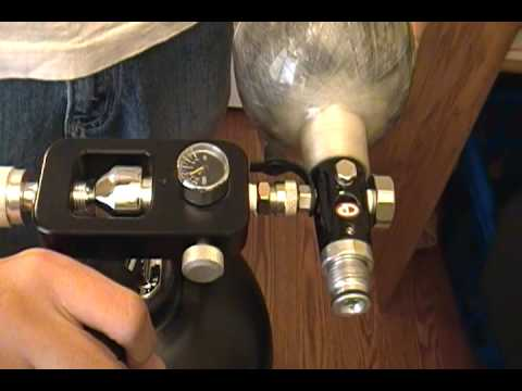 ~How To~ Filling a Paintball Tank off a Scuba Tank ~How To~