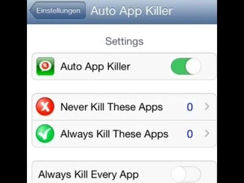 Auto App Killer - Cydia Tweak - bei wenig RAM autom. Apps im Hintergrund beenden -iPhone & Co.