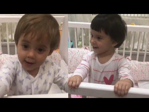 Karan Johar's Kids Roohi and Yash CUTE Vidoes Before Going To Sleep