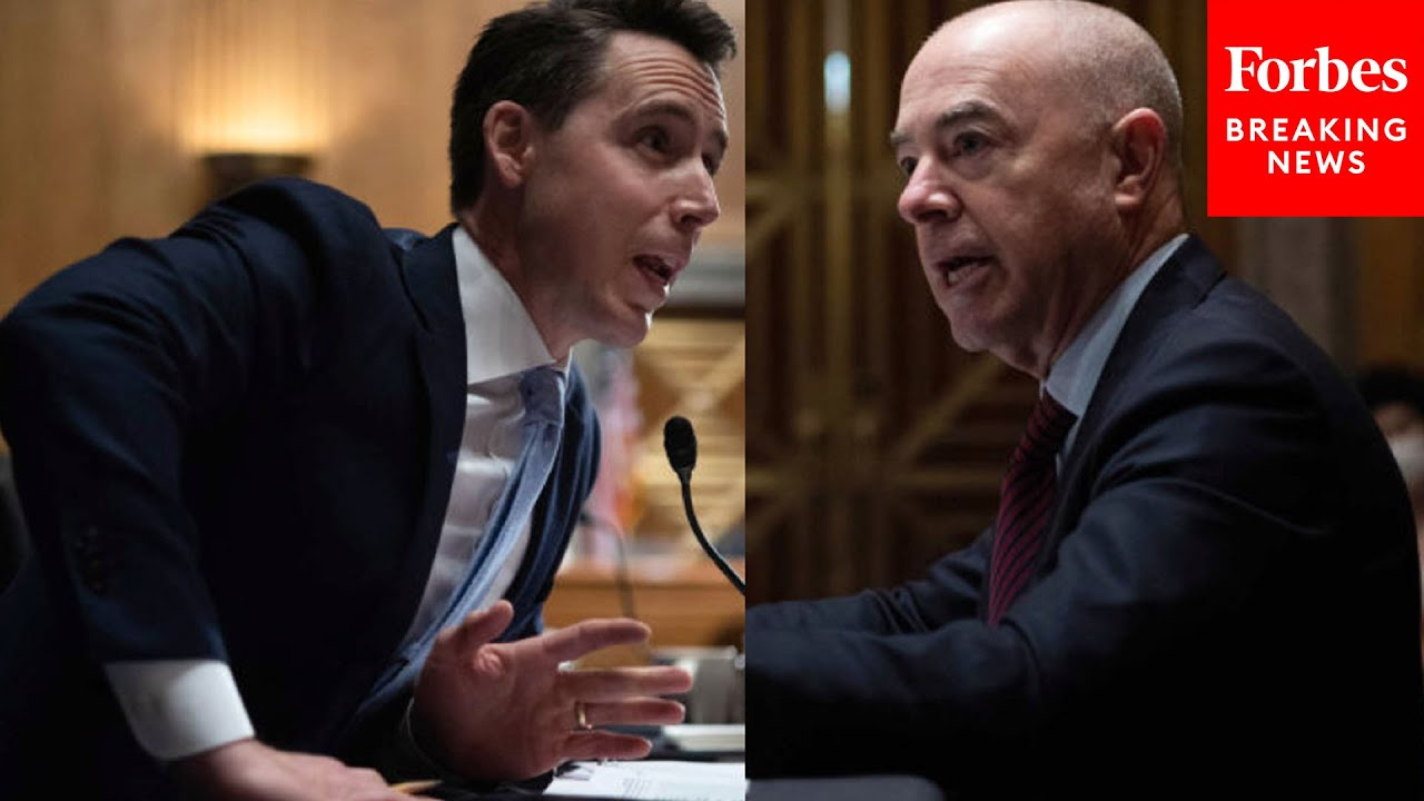 JUST IN: Josh Hawley, Mayorkas Share Extremely Tense Exchange During Senate Hearing