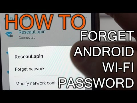 How To Forget Network on Android devices