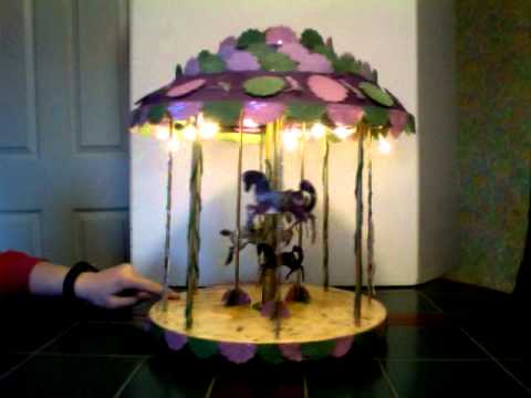 Carousel made out of wood and handmade paper