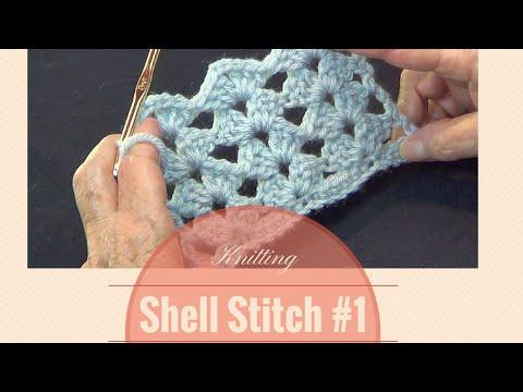 Crochet Shell Stitch #1 | Open Shell Lace Stitch Pattern