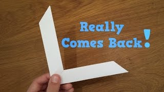 How To Make A Paper Boomerang Origami