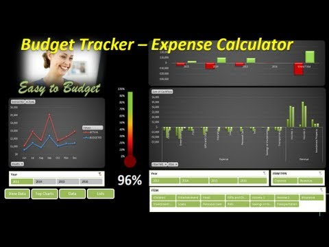 Excel Budget - Expenses Calculator - Excel 2013