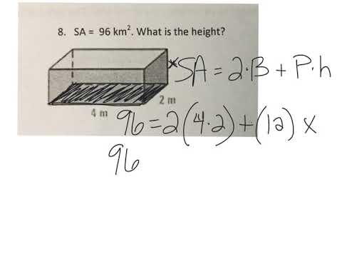 Surface area review #8