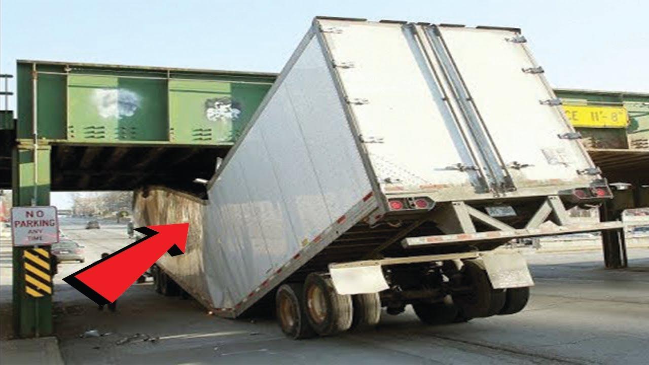TOP Trucks Hitting Bridges Compilation - Extreme Dangerous Biggest Logging Wood Truck Driving Skill