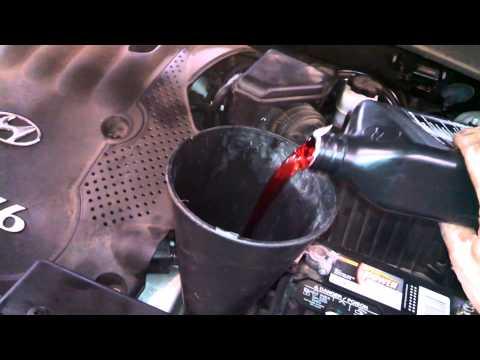 Transmission fluid change Hyundai Santa Fe 2007 drain and fill