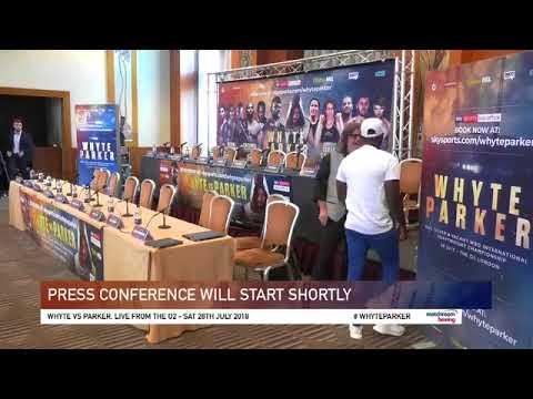 Parker vs Whyte 2018 Press conference . Nick Webb vs Dave Allen undercard British Title eliminator