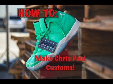 HOW TO: Make Chris Paul Jordan 11 Player Exclusive Kicks!!!