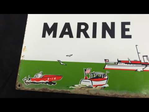 Texaco marine lubricants sign