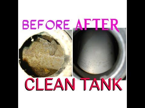 Clean petrol and gas tank rust is an easy way