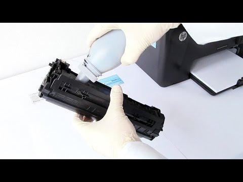 How to refill your HP Pro M125a, M125nw, M127fn, M127fw, M201n, M201dw, M225dn