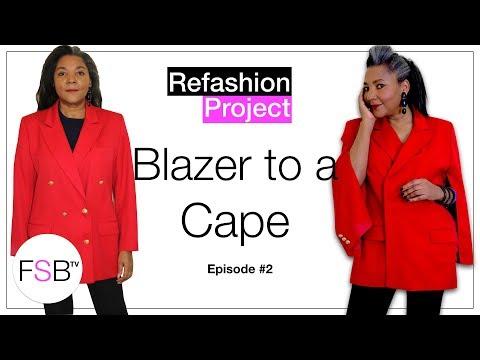 How To Make A Blazer Into A Cape