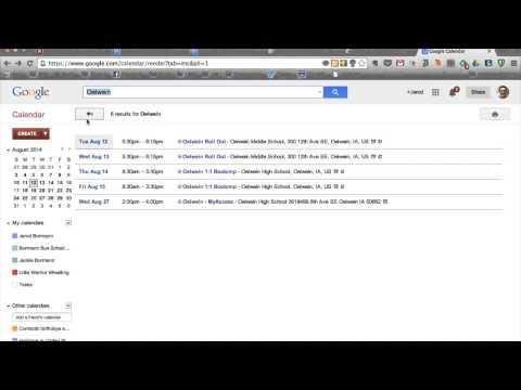 Google Calendar Layout