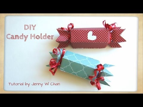 Valentine's Day Crafts - DIY Paper Candy Holder & Treat Roll Box for Birthday Party Favors