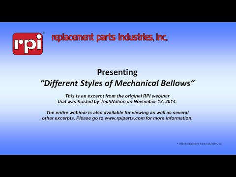 Different Styles of Mechanical Bellows