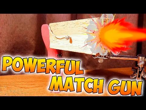 Powerful match gun