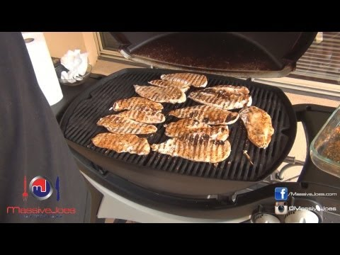 How to Slow Grill Chicken Breast Recipe - MassiveJoes MasterClass - Food Preparation Prep Grilling