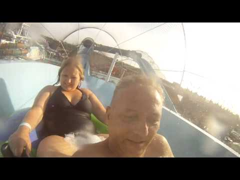 WHAT HAPPENS when girl goes down water slide with dad!