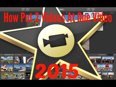 How Put 2 Videos At One Video - iMovie 2015