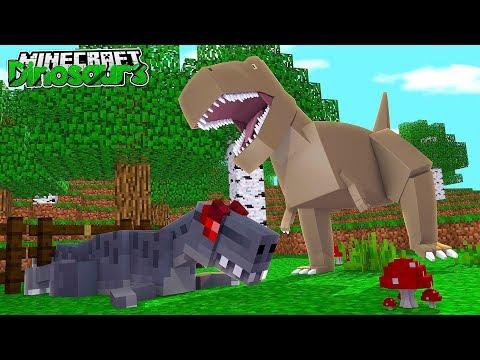 THE T-REX KILLED ANOTHER DINOSAUR?!! - Minecraft Dinosaurs w/ Little Lizard