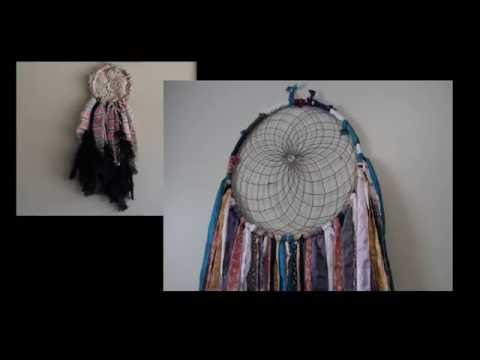 DIY: Dreamcatcher with Doily and Fabric