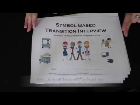Symbol Supported Transition Survey/Interview for IEPs