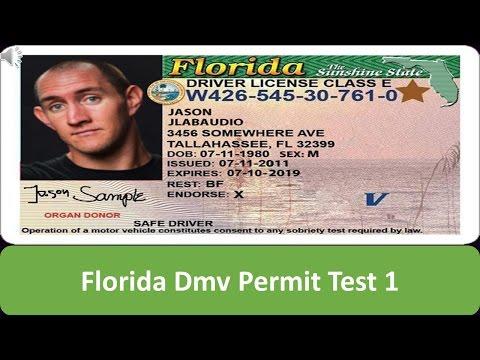 Florida DMV Permit Test 1