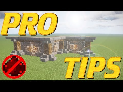 Minecraft PRO TIPS   How to Build a Wall Building Tutorial   Minecraft Wall building tips and tricks