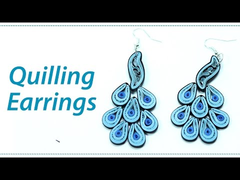 Quilling Earrings - How to Make Paper Quilled Jhumkas Step by Step