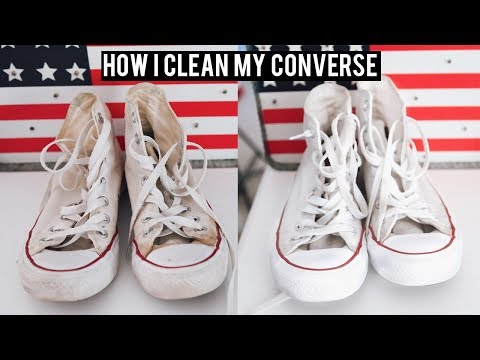 How I Clean my White Converse | QUICK EASY SIMPLE