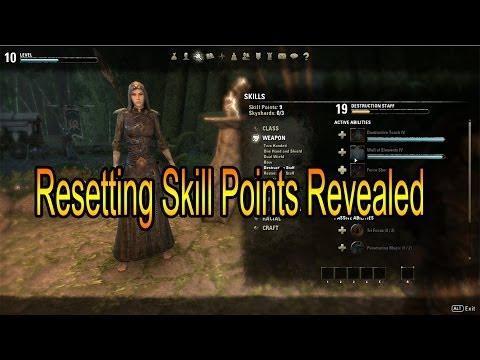 The Elder Scrolls Online How To Reset Skills