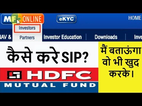 How to Buy Hdfc Mutual Fund Sip Direct Online | in Hindi | Live