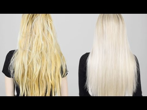 HOW TO: Remove Brass From Blonde hair | Tone Hair AT HOME