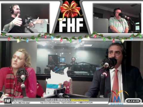MYLES L. BERMAN® INTERVIEWED BY FROSTY, HEIDI & FRANK ABOUT UPCOMING HOLIDAYS ENFORCEMENT