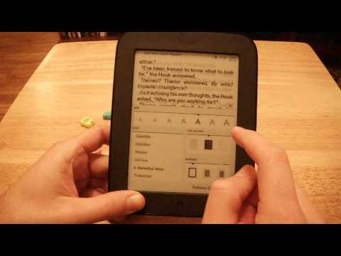 Nook Simple Touch Change Font Size