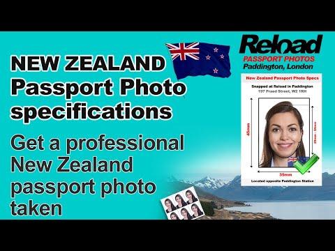 New Zealand Passport photos & Visa Photo at Reload Internet in Paddington, London