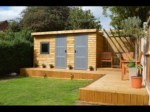 Garden Gym/Shed with Pergola & Decking HD - Wallasey, Wirral, Merseyside 2016 - D K JOINERY - Wirral