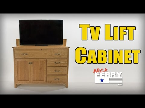 Ⓕ Making A TV Lift Cabinet w/ Secret Compartment (ep63)