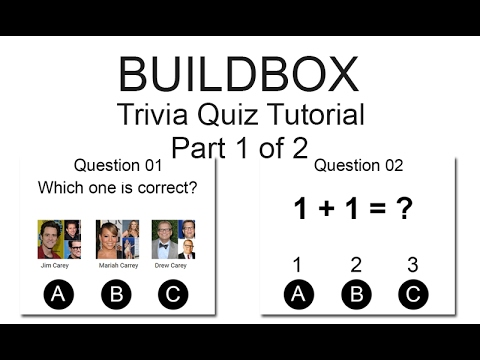 Buildbox - Trivia Quiz Tutorial part 1 of 2