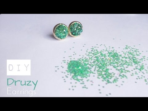 DIY Druzy Stud Earrings | How to make faux druzy earrings