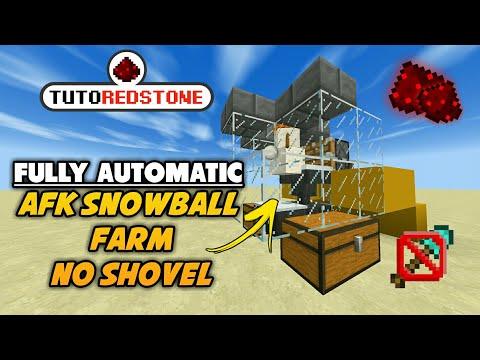 CARA MEMBUAT SNOWBALL FARM FULL OTOMATIS! TUTOREDSTONE #4