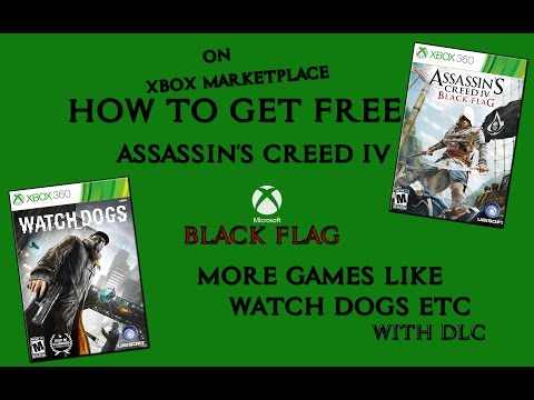 How To Get Free Xbox 360 Assassin'creed IV Black Flag | More Games Watch Dogs or DLC Free | Non Jtag
