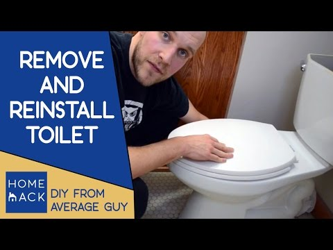 How to remove and reinstall toilet with wax ring