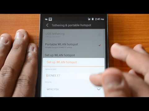 How to Create Portable Wi-Fi Hotspot on Gionee Elife E7