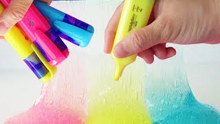 How To Make Slime With Highlighter Diy Slime No Borax Or Liquid Starc